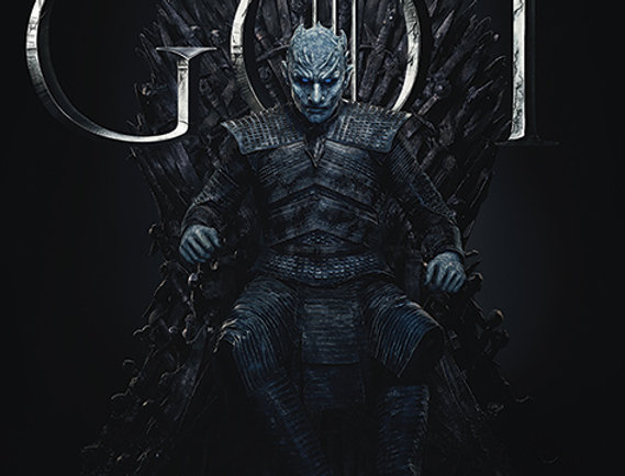 Poster plastifié 772 Game of Thrones (The Night King For The Throne)
