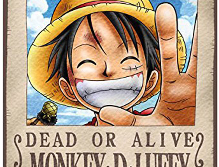 ONE PIECE Poster Wanted Luffy ( 98x68 cm )