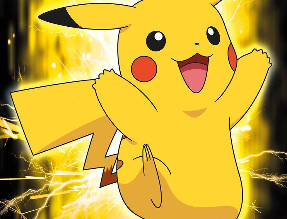 #564 Pokemon Pikachu Glow Poster plastifié