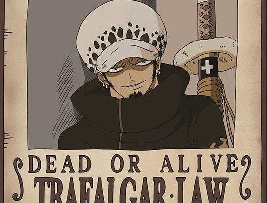 ONE PIECE Poster Wanted Trafalgar Law