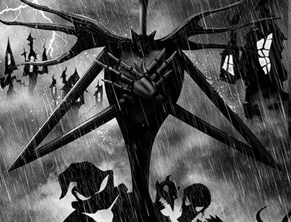 Poster plastifié 545 Nightmare Before Christmas (Storm)