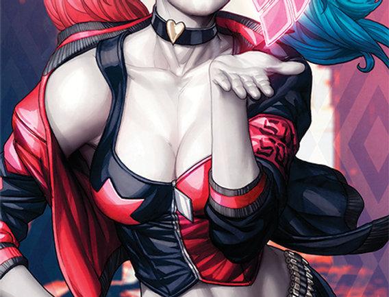 Poster plastifié 761 Batman (Harley Quinn Kiss)