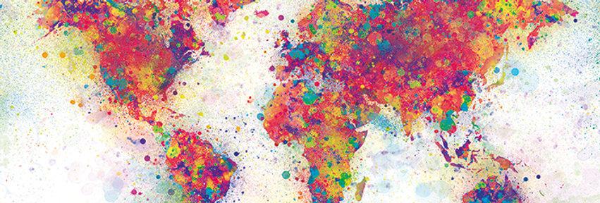 561 World Map (Colour Splash)