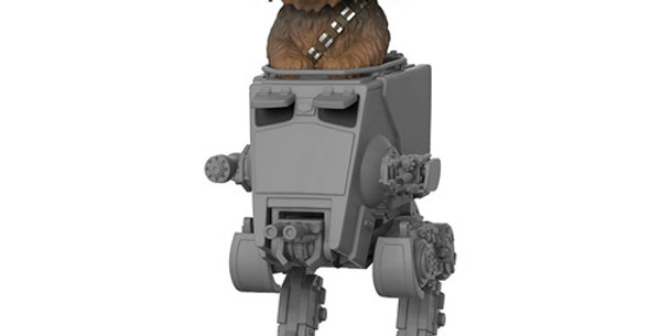 Star Wars POP! 236 Deluxe Vinyl figurine Chewbacca with AT-ST 10 cm