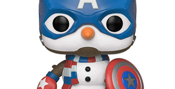 Funko POP #532 Marvel Holiday Cap snowman captain american