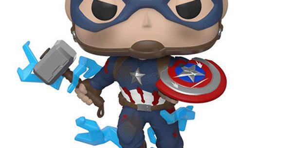 Funko POP! Marvel Avengers Endgame #573 Captain America with Thor's hammer