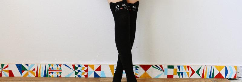 Bas chat Noir