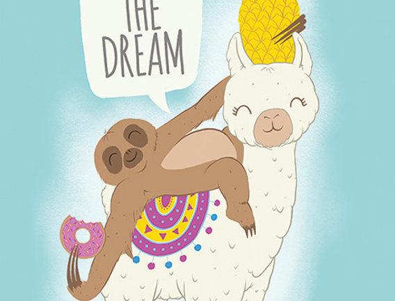 731 Living The Dream (Llama and Sloth)