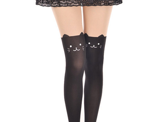 Collant chat Mimi Noir