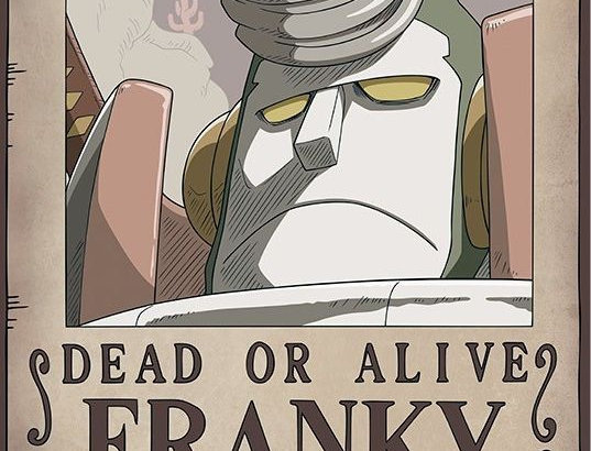 ONE PIECE Poster Wanted Franky New