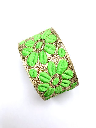 Manchette Green flower Power