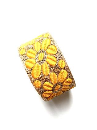 Manchette Yellow Flower Power