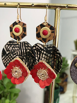 Boucle d'Oreilles Red Forever