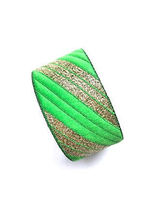 Manchette Stripe your Green Spirit