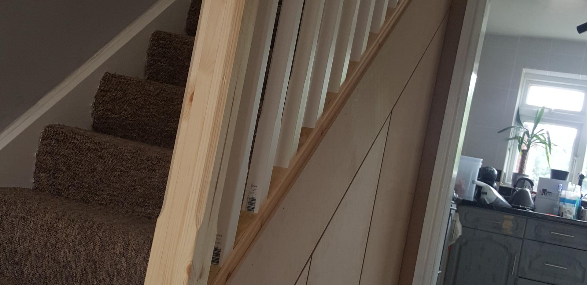 Stair case and under stair storage