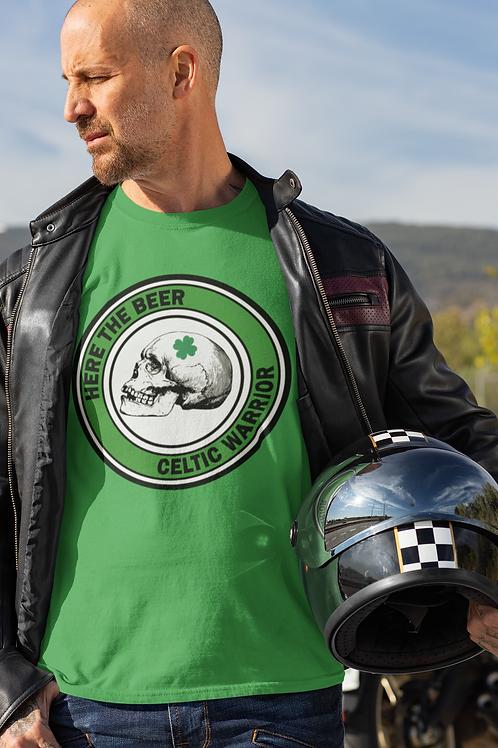Here the Beer - Celtic Warrior Short-Sleeve Unisex T-Shirt