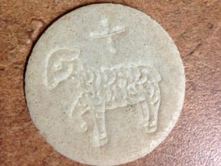 """SMALL 1 3/8"""" WHEAT- Lamb Design"""