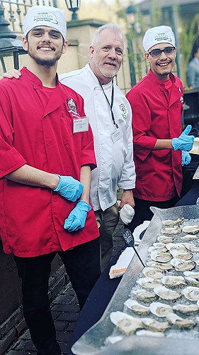 Shucking with students from Laurel High