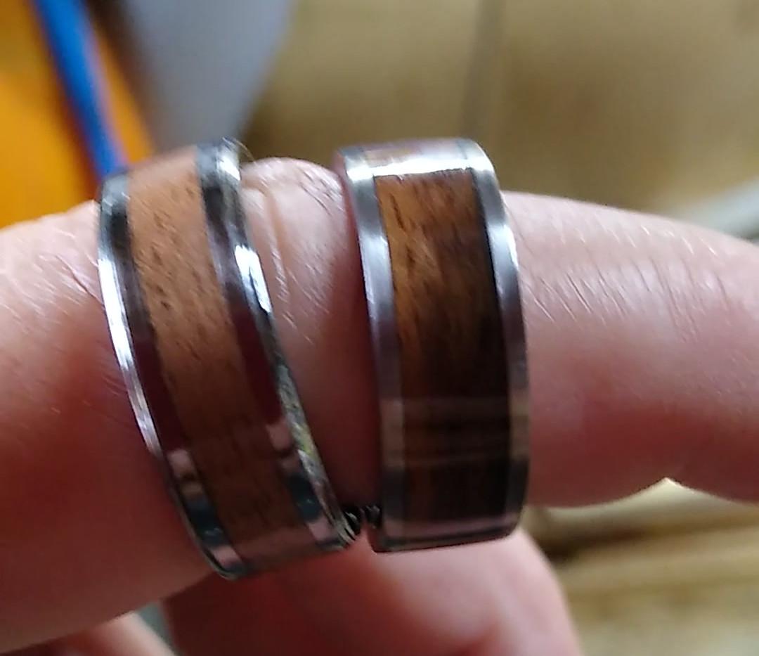 Tungsten and Titanium Rings