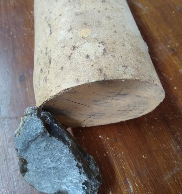 Ash Wood Flint Stone