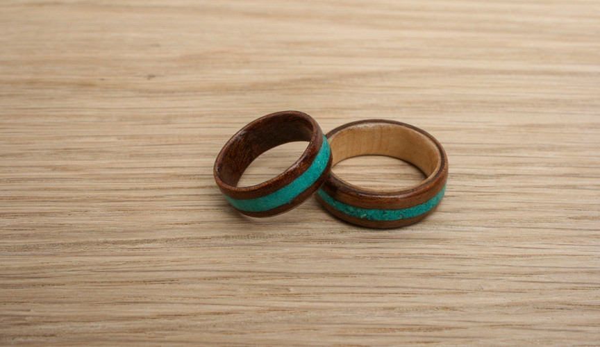 Engagement Wedding Rings Turquoise