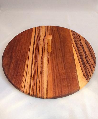 Walnut and Zebrano Wood Cheese/Cakes Board