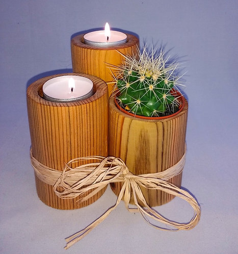 Candle and Cactus/Succulent Holders-Set of 3