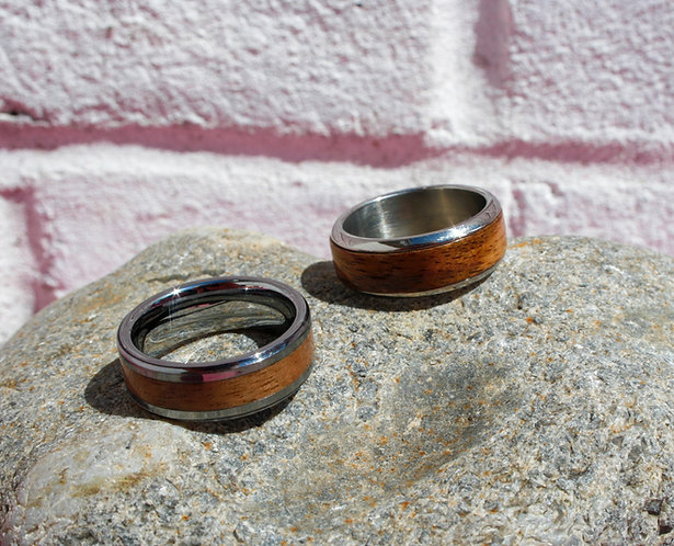 Eco-Friendly Duo Wedding Band Ring Set