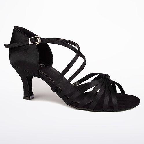 "Black Sandal 2.33"" Heel"