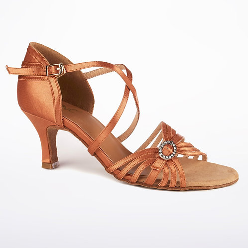 "Sparkle Dark Tan Sandal 2.33"" Heel"