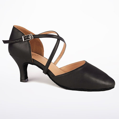 "Black Closed Toe Shoe 2"" Heel"