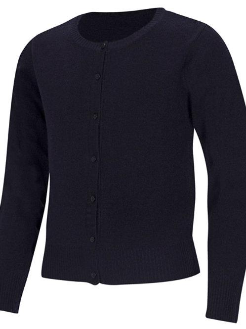 Girls Navy Cardigan SweaterSizes XS - XL
