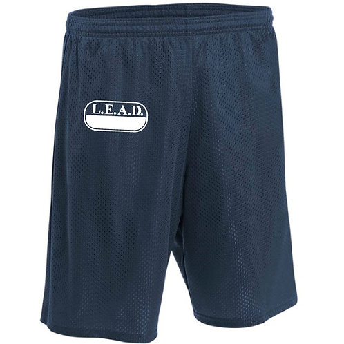 L.E.A.D. Unisex Navy Physical Education Shorts Sizes Youth M - Adult XL