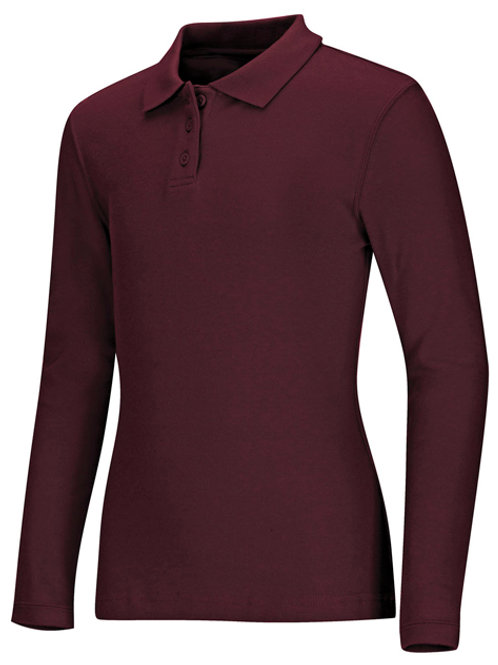 Girls Long Sleeve Polo Youth Sizes XS-XL
