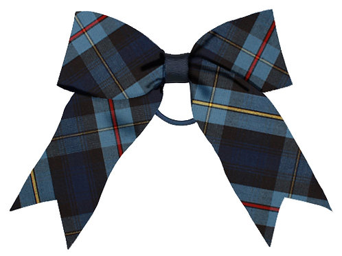 Girls Jumbo Plaid Bow with Tails