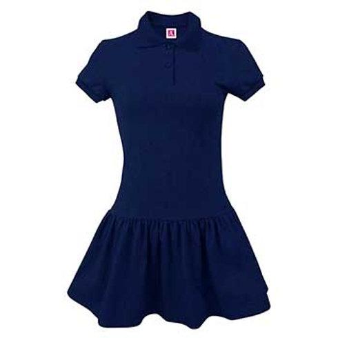 Girls Jersey Knit Polo Dress Youth Sizes XXS-M