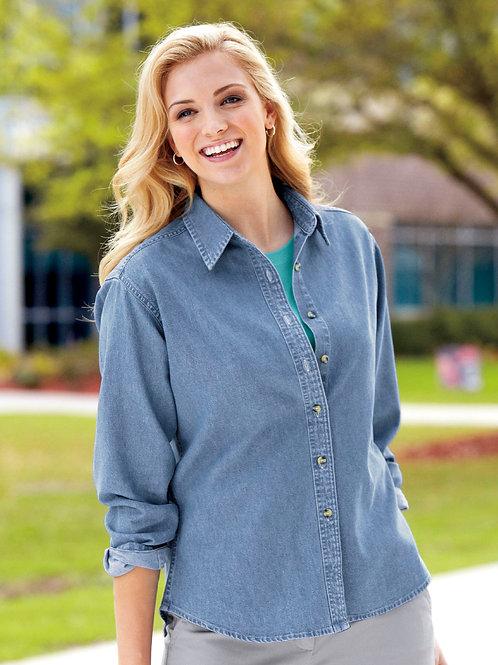 Port & Company® - Ladies Long Sleeve Value Denim Shirt XS-4XL, $27.98-$35.98