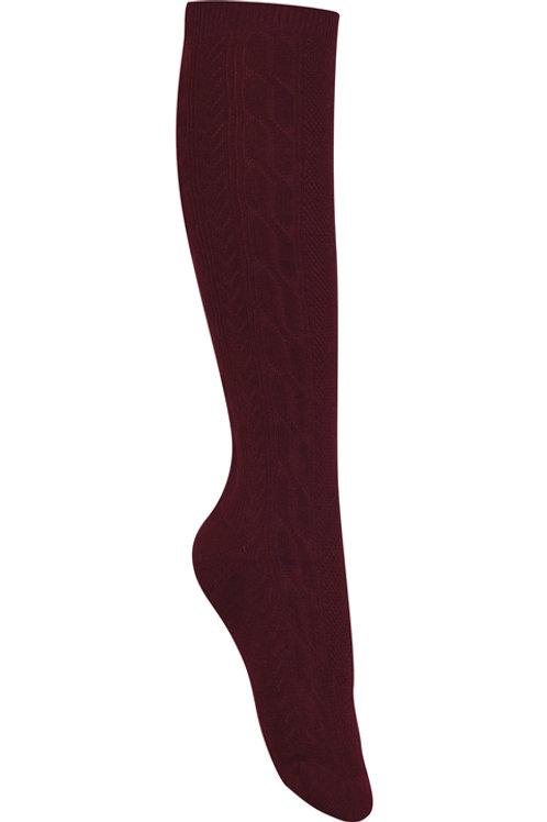 Girls/Juniors Cable Knee High Socks 3 Pack