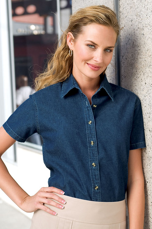 Port & Company® - Ladies Short Sleeve Value Denim Shirt XS-4XL, $27.98-$35.98