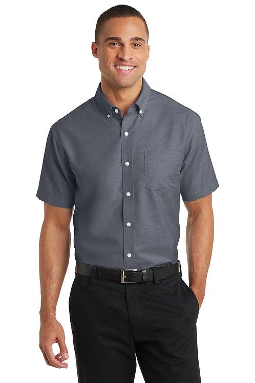 Port Authority® Short Sleeve SuperPro™ Oxford Shirt XS-4XL, $37.98-$45.98