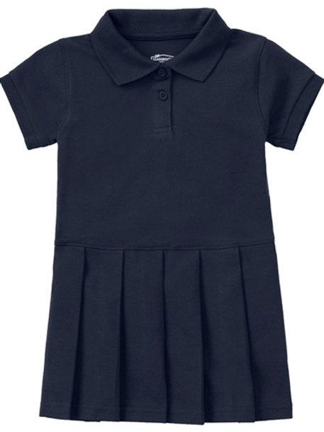 Preschool Girls Pique Polo Dress 2T-4T