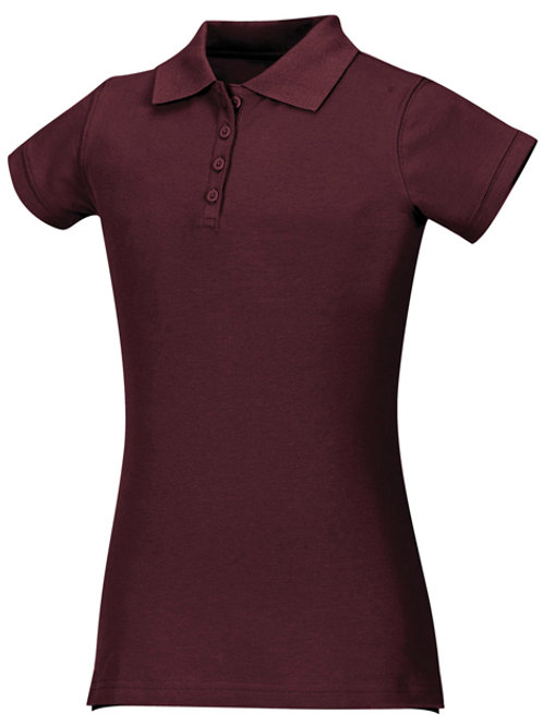 Girls Stretch Pique Polo Youth Sizes XS - XL