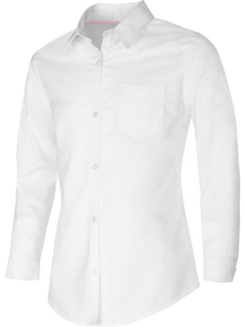 Junior's Long Sleeve Oxford Shirt Sizes XS - XL