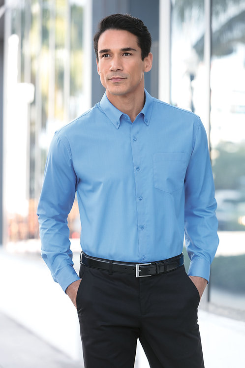 Port Authority® Long Sleeve Carefree Poplin Shirt XS-4XL, $27.98-$35.98
