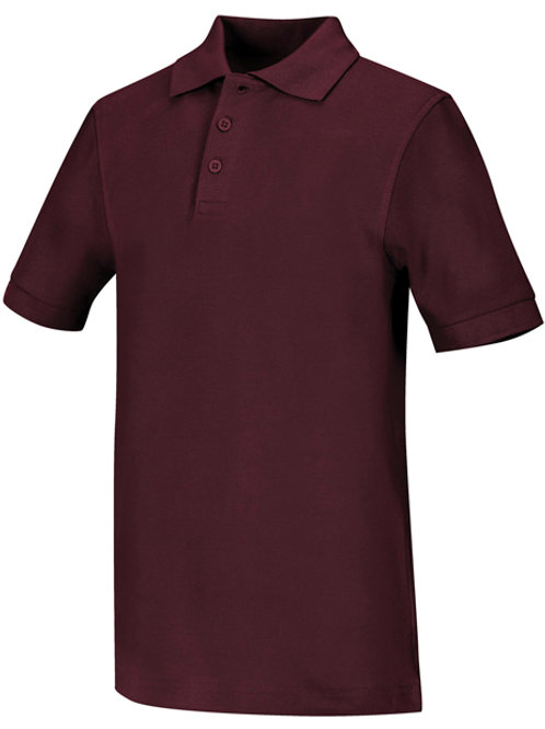 Boys Short Sleeve Pique Polo Youth Sizes XS - XL