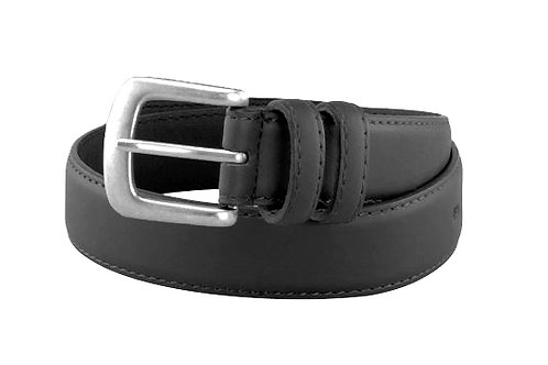 Men's/Boys Smooth Leather Belt with Brushed Nickle Buckle