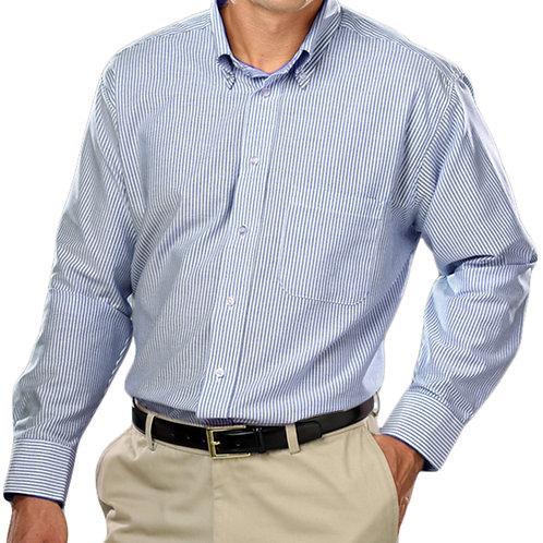 Men's Woven Oxford Long Sleeve Shirt Sizes S-5XL