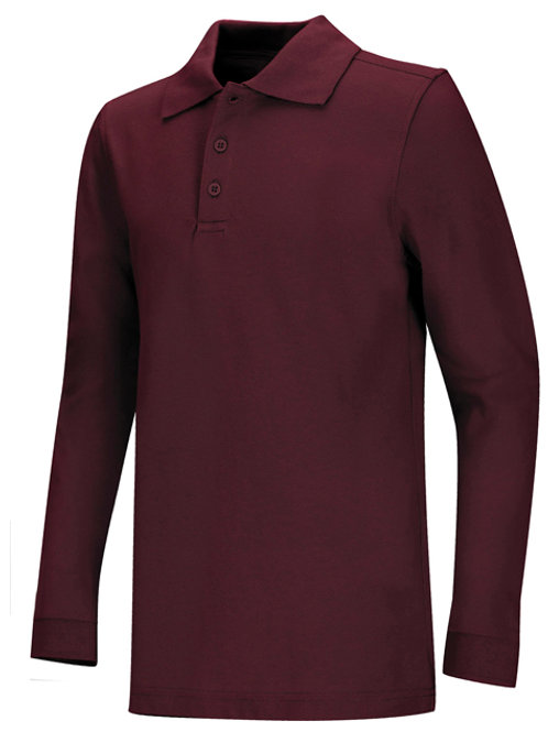 Men's Long Sleeve Pique Polo Sizes S - 3XL