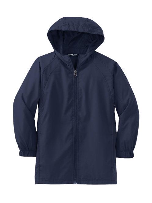 L.E.A.D. Youth Unisex Navy Wind Jacket Sizes S-XL