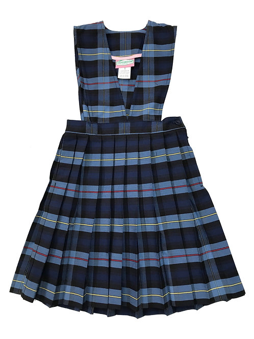 Girls Plaid V-Front Knife Pleat Jumper Youth Sizes 4-8